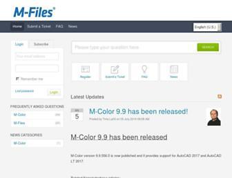 support.m-files.com screenshot