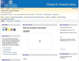 Main page screenshot of library.uncfsu.edu