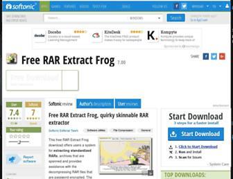 free-rar-extract-frog.en.softonic.com screenshot