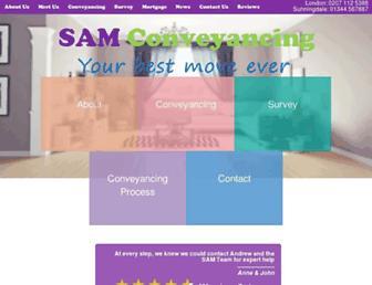samconveyancing.co.uk screenshot