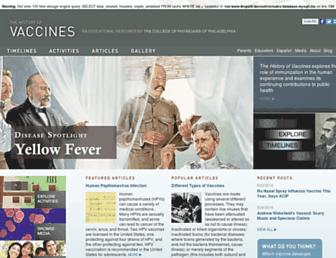 Thumbshot of Historyofvaccines.org