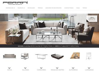 mueblesferrini.com screenshot