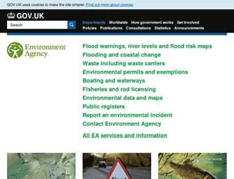 Main page screenshot of environment-agency.gov.uk