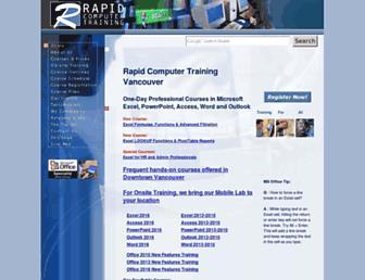 Main page screenshot of rapidtraining.ca