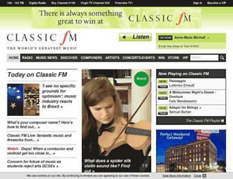 Thumbshot of Classicfm.com