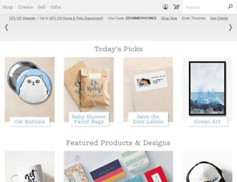 zazzle.com screenshot