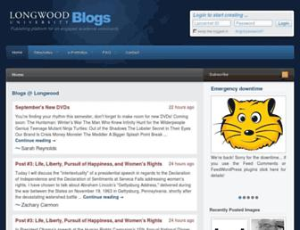 blogs.longwood.edu screenshot