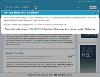 Main page screenshot of treatment-centers.net