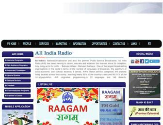 allindiaradio.gov.in screenshot