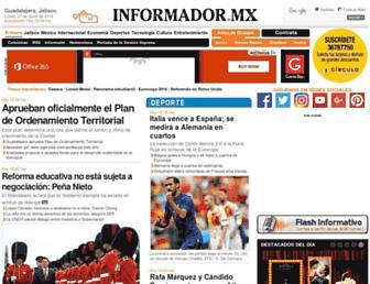 Main page screenshot of informador.com.mx
