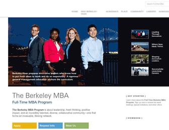 mba.haas.berkeley.edu screenshot