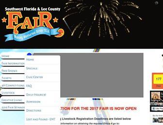 swflcfair.com screenshot