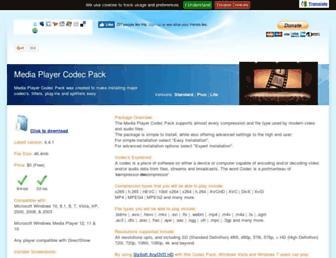 mediaplayercodecpack.com screenshot