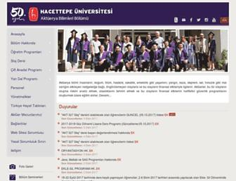 aktuerya.hacettepe.edu.tr screenshot