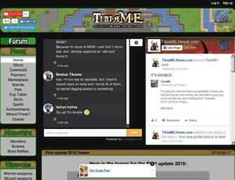tibiame.hexat.com screenshot
