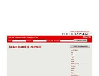 coduripostale.com.ro screenshot
