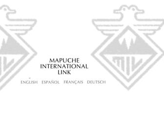 Main page screenshot of mapuche-nation.org