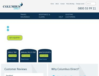 columbusdirect.co.nz screenshot