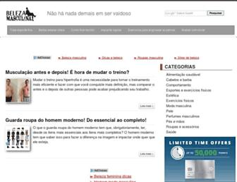 belezamasculina.com.br screenshot
