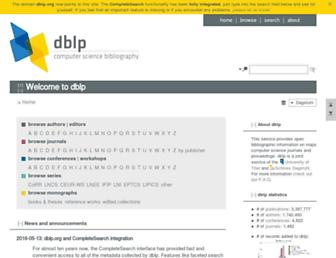 dblp.org screenshot