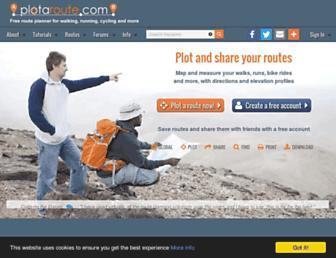 plotaroute.com screenshot
