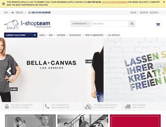 Main page screenshot of l-shop-team.de