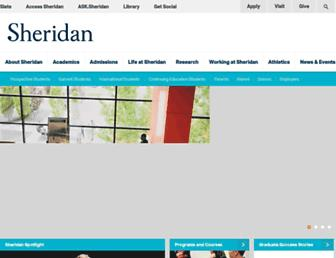 Main page screenshot of sheridanc.on.ca