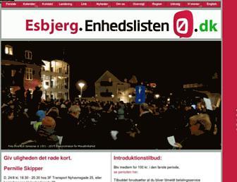 Main page screenshot of enhedslisten-esbjerg.dk