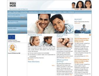 Main page screenshot of pegionline.eu