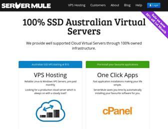 servermule.com.au screenshot
