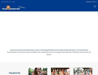 Main page screenshot of doublea.nl