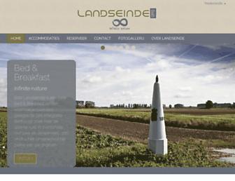 Main page screenshot of landseinde.nl