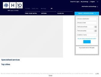 h10hotels.com screenshot
