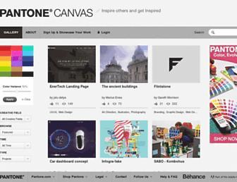 canvas.pantone.com screenshot