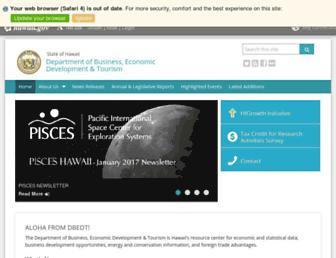 dbedt.hawaii.gov screenshot