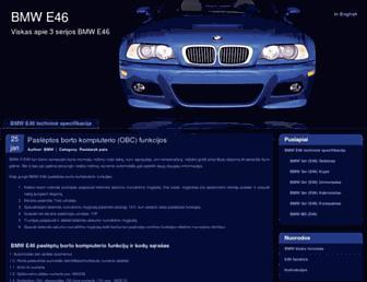 Main page screenshot of e46.lt