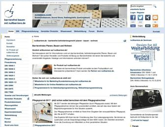 Main page screenshot of nullbarriere.de