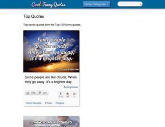 coolfunnyquotes.com screenshot