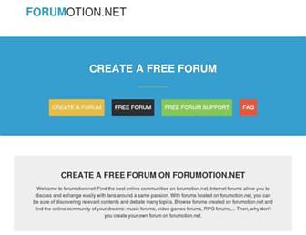 Main page screenshot of forumotion.net