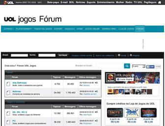 forum.jogos.uol.com.br screenshot