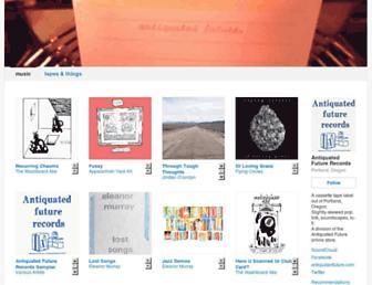 antiquatedfuture.bandcamp.com screenshot