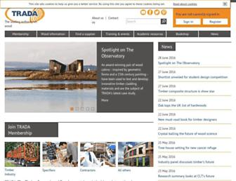 trada.co.uk screenshot