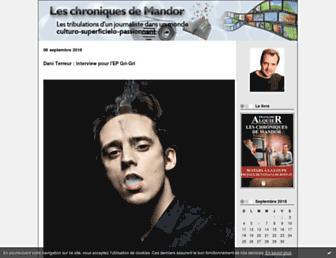 Main page screenshot of mandor.fr