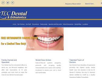 Main page screenshot of tlcdental.biz