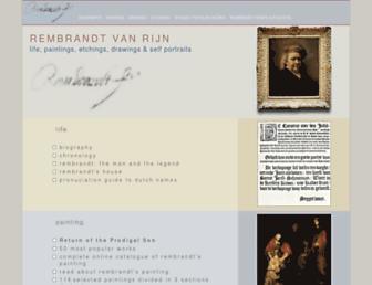 Main page screenshot of rembrandtpainting.net