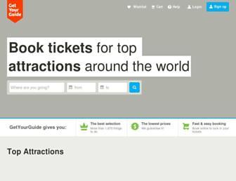 getyourguide.co.uk screenshot