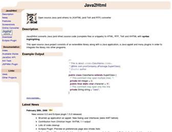 java2html.de screenshot