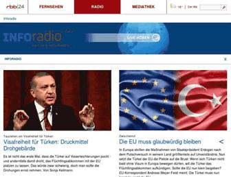 Main page screenshot of inforadio.de
