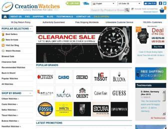 Thumbshot of Creationwatches.com