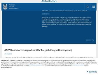 Main page screenshot of amw.com.pl